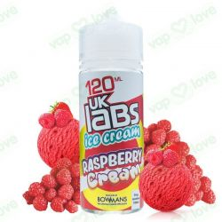 Raspberry Cream 100ml 0mg - UK Labs Ice Cream